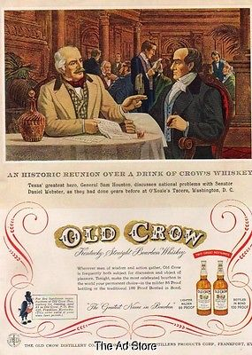 1955-old-crow-whiskey-sam-houston-daniel-webster-o-neale-s-tavern-washington-ad-1d55866f8bee34a43b0ef951a4e8cea7